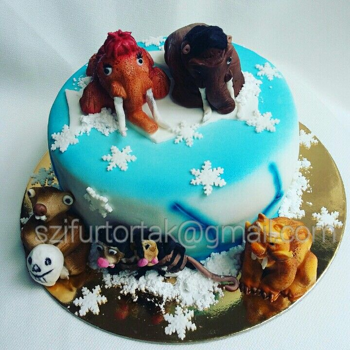 Ice age cake #iceagecake #szifurtortak