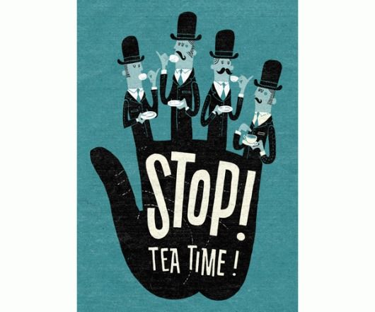 Clever DesignTea Time, Teas Time, Esther Aart, Illustration, Graphics, Things, Posters, Design, Teatime