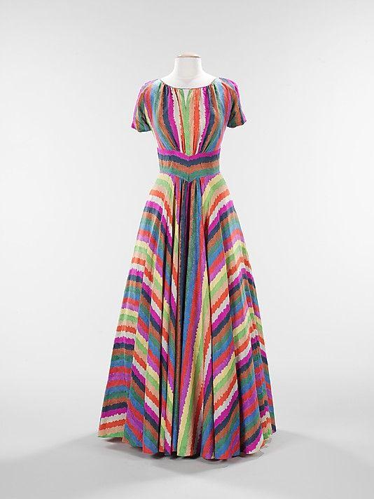 1937 silk dress by Elizabeth Hawes, American
