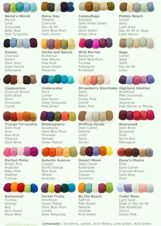 Colour schemes.