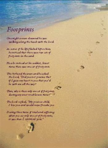 Best 14 Footprints in the Sand images on Pinterest | Footprints, The ...