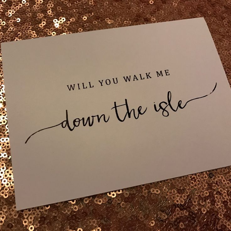 Will you walk me down the isle card now in!!!   With black foil new to sapphire ink design
