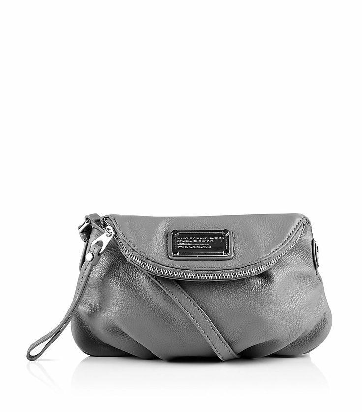 On my wish list: Marc By Marc Jacobs Classic Q Mini Natasha Crossbody Bag in Gray (silver)