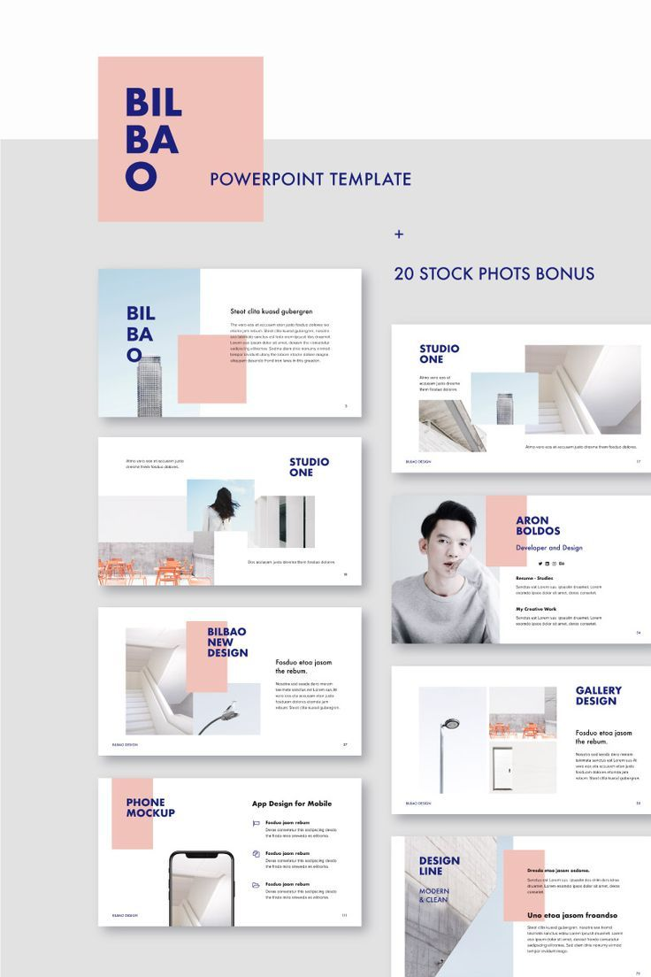 BILBAO – PowerPoint Template – #BILBAO #layout #powerpoint #Template