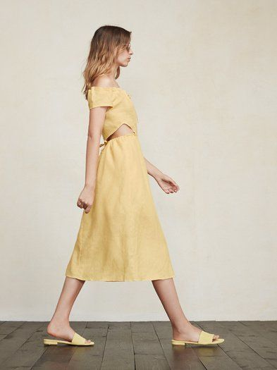 For Portofino, or wherever. The Abuela Dress. Take her anywhere. https://www.thereformation.com/products/abuela-dress-maize?utm_source=pinterest&utm_medium=organic&utm_campaign=PinterestOwnedPins