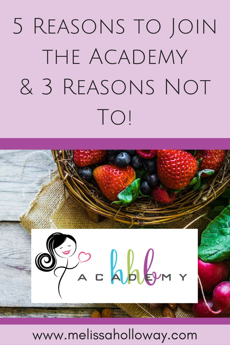 5 Reasons to Join the Academy & 3 Reasons Not To! http://www.melissaholloway.com/2017/03/09/5-reasons-join-academy-3-reasons-not/