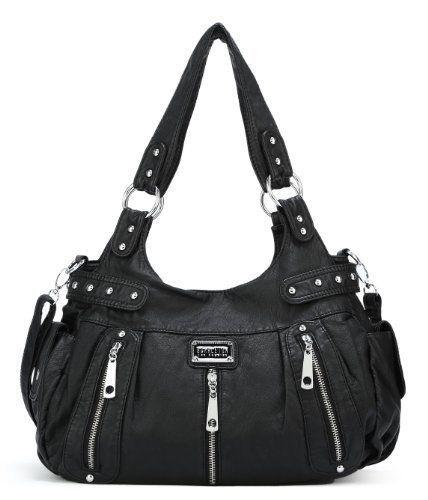 1b2d9e819f Scarleton 3 Front Zipper Washed Shoulder Bag H1292 Brown Black Ash H129204a  New  Scarleton  BackpackStyle
