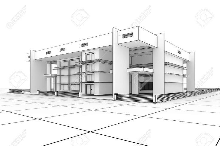 Sketches of modern houses google search things to draw for Architecture modern house design 2 point perspective view