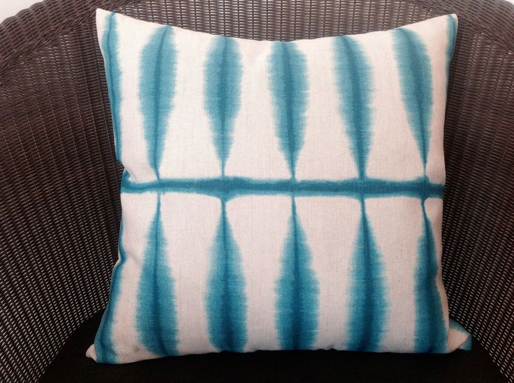 Blue Green Grid Cushion