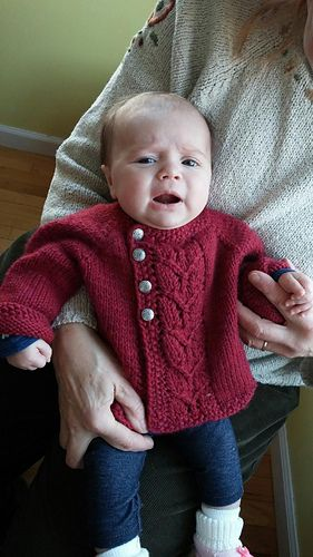 Leaf Love Baby Sweater is a classic cardigan for any boy or girl.