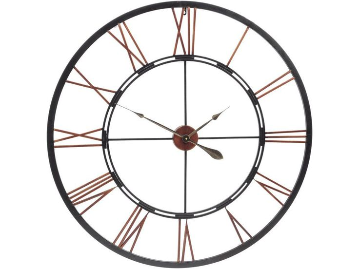 The giant skeleton wall clock is part of our range of elegant timepieces, ideal for adding style to your wall. If you like the look of this extra large iron and copper skeleton wall clock, you might also want to take a look at these other items, similar in style to the oversize see through metal clock you see here...