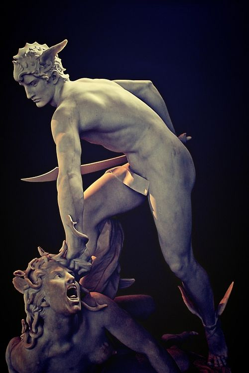 Laurent-Honoré Marqueste (French, 1848-1920), Perseus Slaying Medusa, 1903 version. Marble. Ny Carlsberg Glyptotek, Copenhagen.
