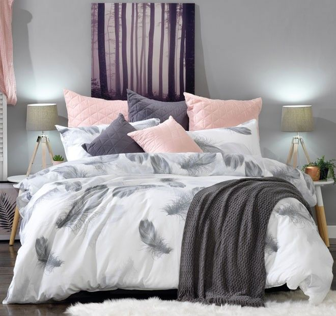 Leopold Quilt Cover Set Range Grey - Shop
