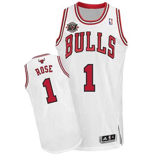 derrick rose jersey buy 100 official adidas derrick rose mens authentic 20th anniversary white. nba chicago bullswhite