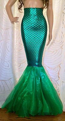 Sexy Fish Scale Mermaid Tail Skirt Costume (Handmade) Size: S M L XL