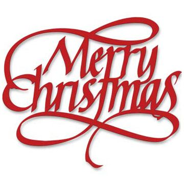 Merry Christmas - Broad-edged Italic, Quietfire Digital Cutting File