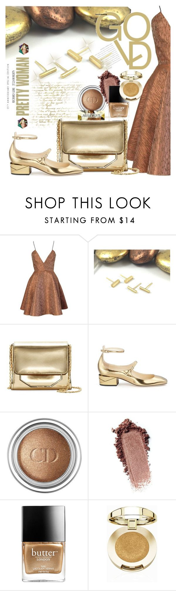 """""""ANVIL AGATE -Double Piercing Earrings"""" by selmir ❤ liked on Polyvore featuring Joana Almagro, Louise et Cie, Jimmy Choo, Christian Dior, Butter London, Milani, jewelry, darkflorals and anvilagate"""