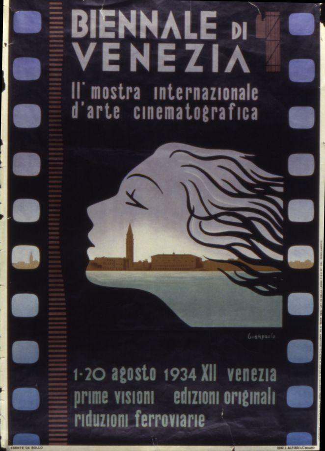 Manifesto Festival del Cinema di Venezia 1934