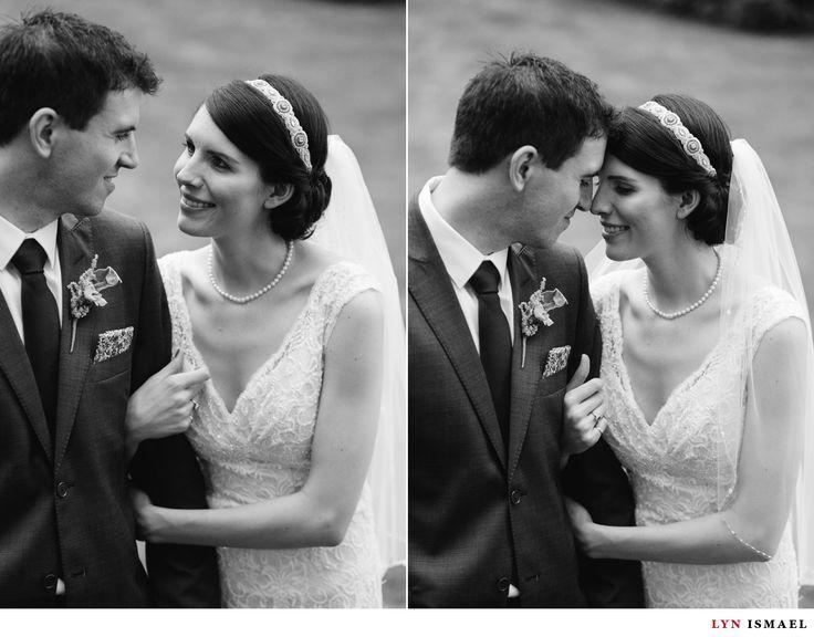 Windermere Manor Wedding | elegant bride and groom portraits | black and white