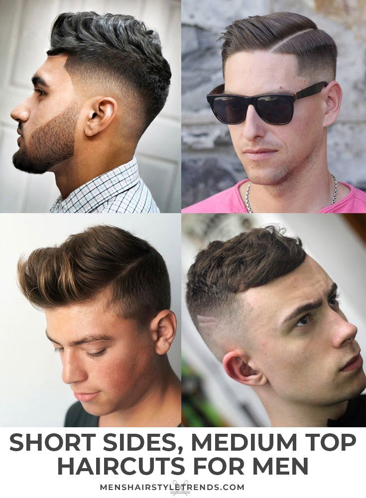 Men S Haircuts Short Sides Long On Top With Images Haircuts