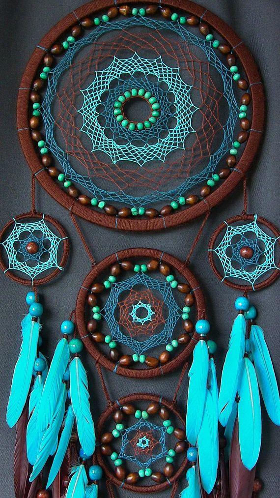 Atrapasueños Dreamcatcher Dreamcatcher azul Boho estilo