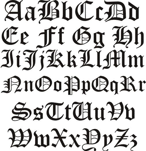 old english letters | Old English Font -
