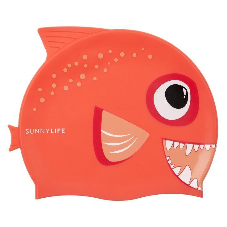 SunnyLIFE - Swimming Cap In Fishy Red