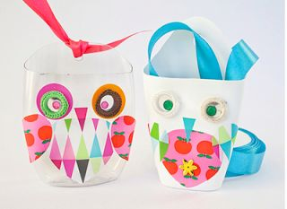 Owls made by Pysselbolaget #recycle #plastic #tutorial