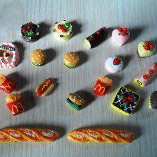 Еда для куколок небольших размеров / Кукольная миниатюра, румбоксы / Шопик. Продать купить куклу / Бэйбики. Куклы фото. Одежда для кукол