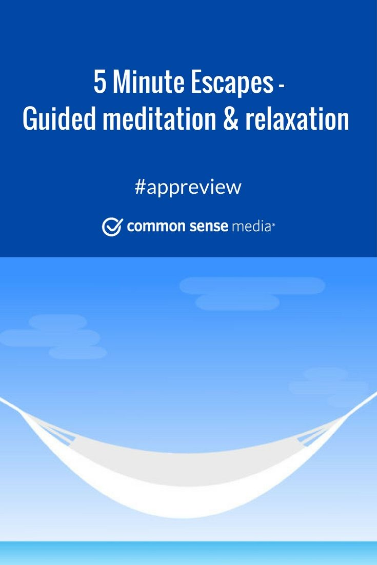 Simple app that uses music, sound effects, and guided visualizations to create calm.