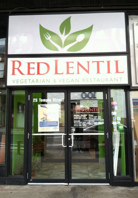 Red Lentil vegan restaurant..25 Temple Street  New Haven, CT 06510  Need to try