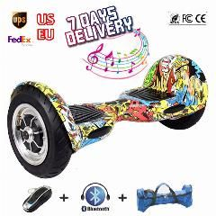 [ $26 OFF ] 2 Wheel Self Balance Scooters 10 Inch Bluetooth Balancing Electric Scooter Hoverboard With Remote Control Skateboard Drift Board
