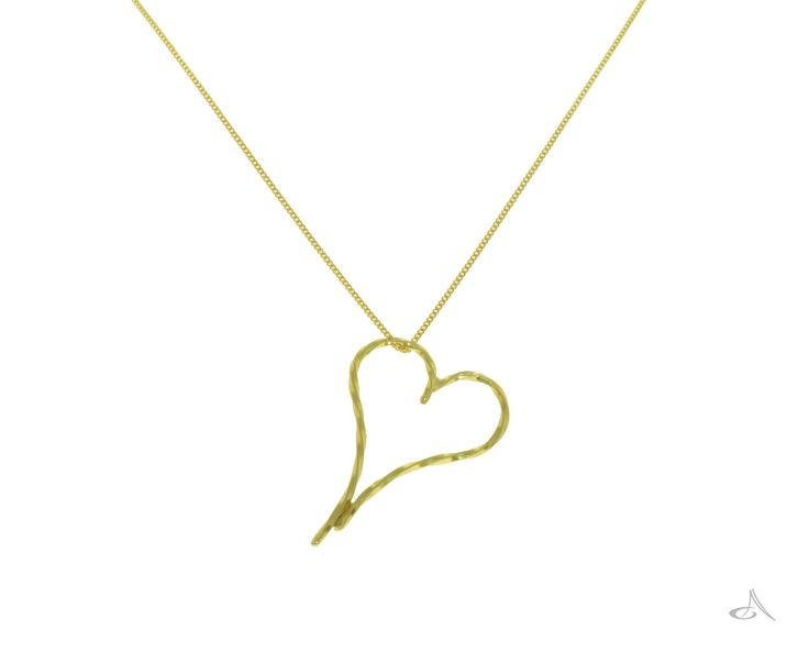 A twisted gold heart in 9ct