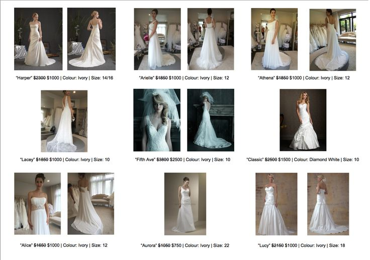 Wedding dresses as low as $650 on sale at Jenny's Bridal!