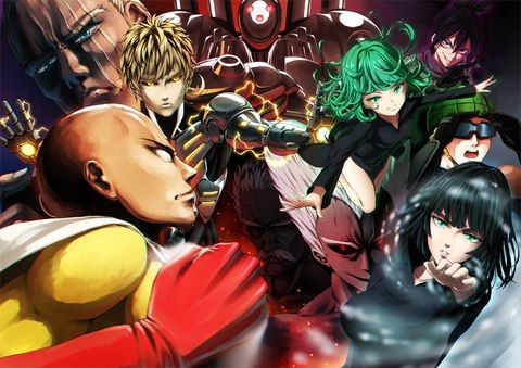 One Punch Man - King, Genos, Saitama, Garou, Bang, Tornado, Fubuki, Mumen Rider and Metal Knight