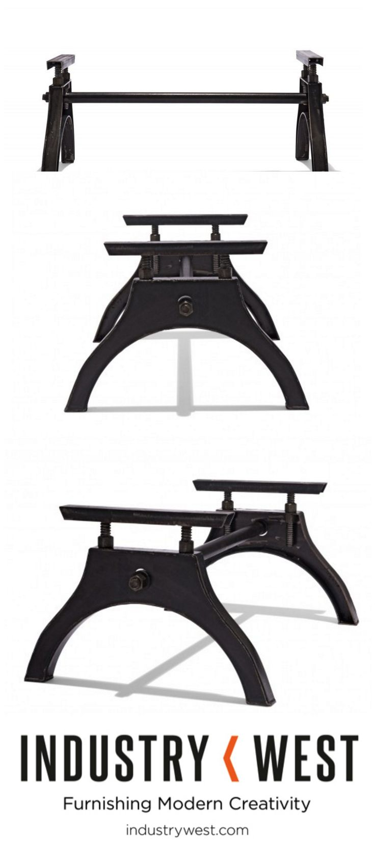 The Iron Horse Coffee Table Base is our companion piece to