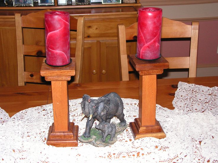 Candlesticks - Kiaat wood from south africa.