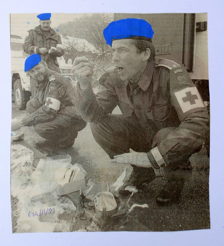 https://flic.kr/p/FtVjU9 | from the serie CASQUES BLEUX | 17cm l x 18,6cm  H www.colonel.dk