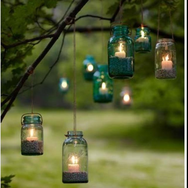Backyard beauty. So would do that here in Red Feather only the wind would blow the jars away!