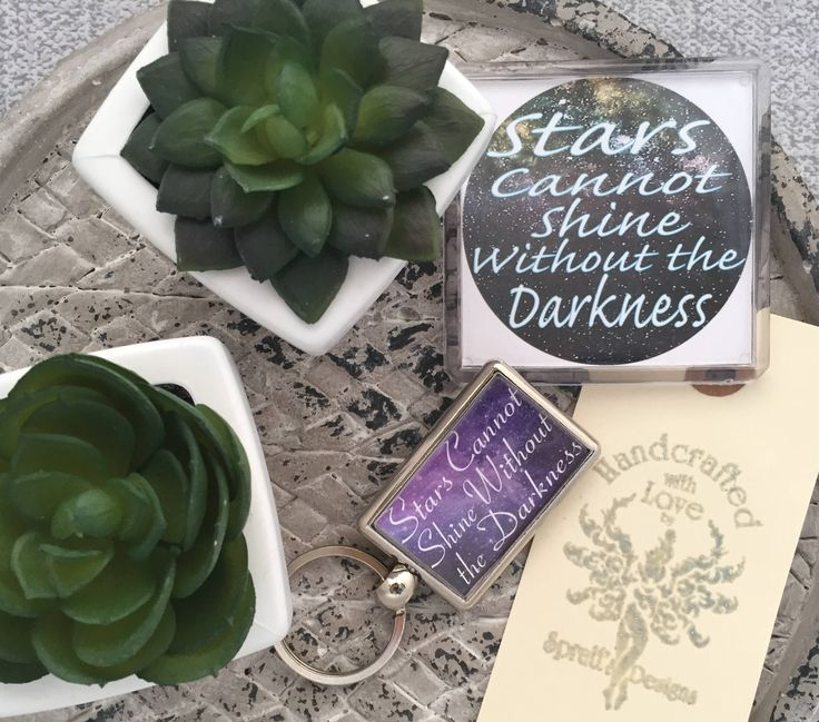 Stars Cannont Shine Without the Darkness, Keyring, Fridge Magnet by SprattsDesigns on Etsy