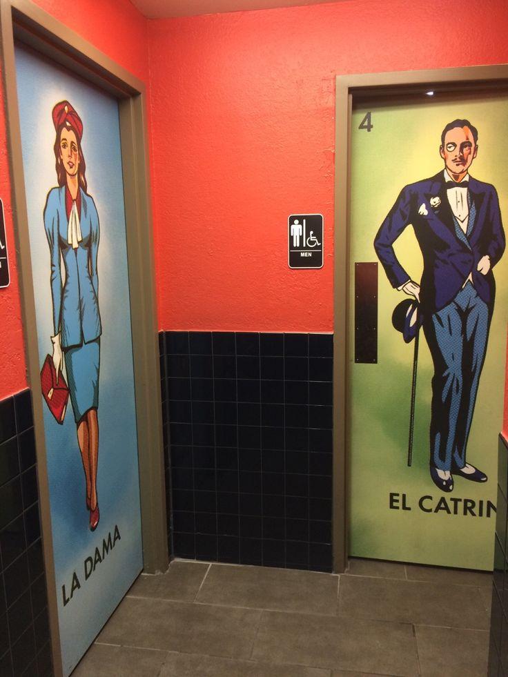 Restroom doors. #Loteria #IsEverywhere