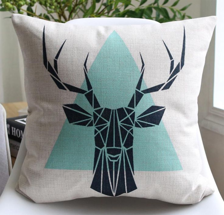 Free Shipping!!Vintage animal geometric square throw pillow/almofadas case boy manly,european american cushion cover home decore
