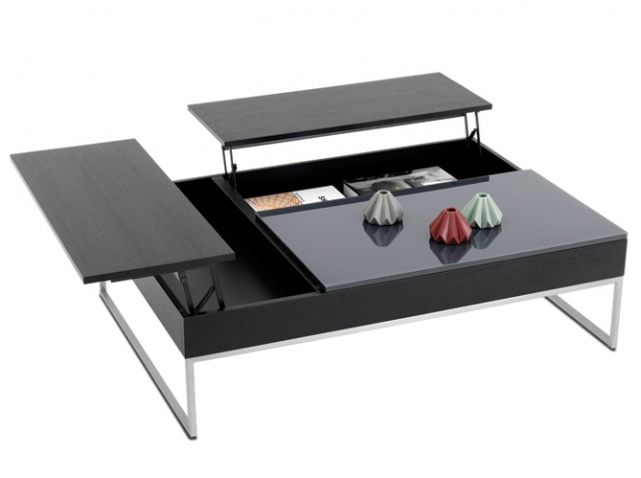 Les 25 meilleures id es de la cat gorie table basse relevable sur pinterest - Table salon transformable ...