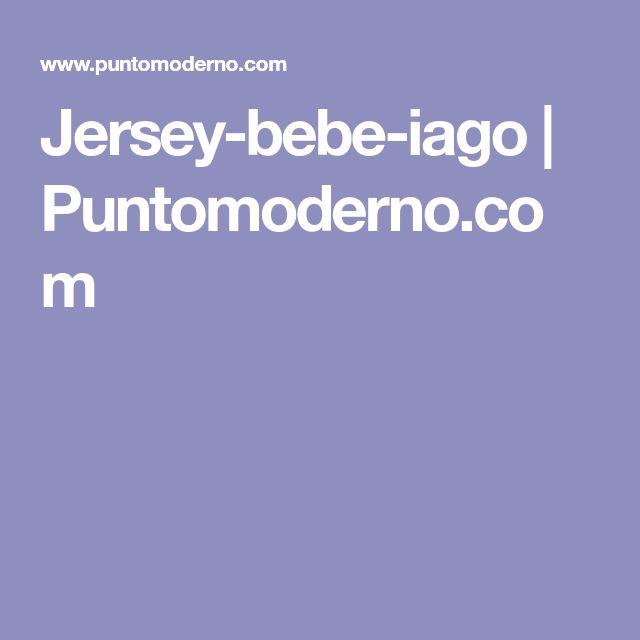 Jersey-bebe-iago | Puntomoderno.com