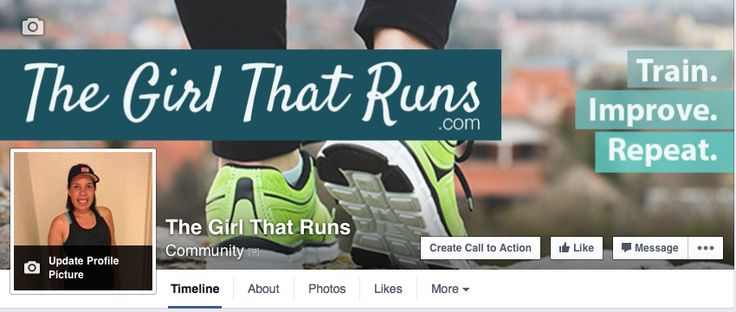 Facebook Banner for the girl that runs