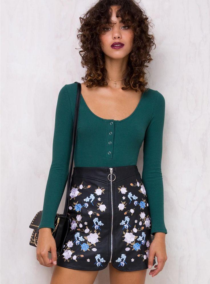 Petal Express Embroidered Skirt