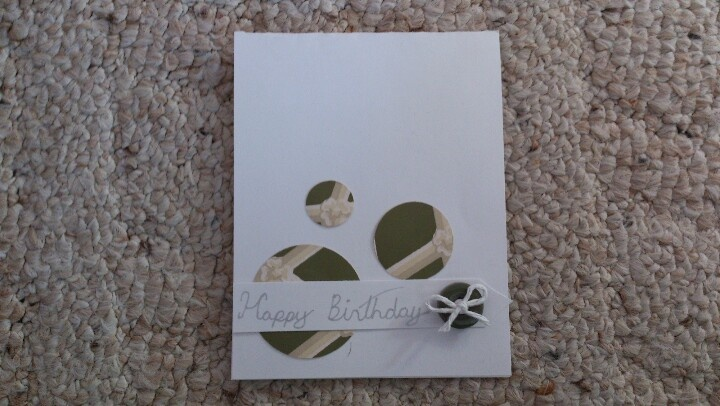 Really easy card to mask produce with patterned paper