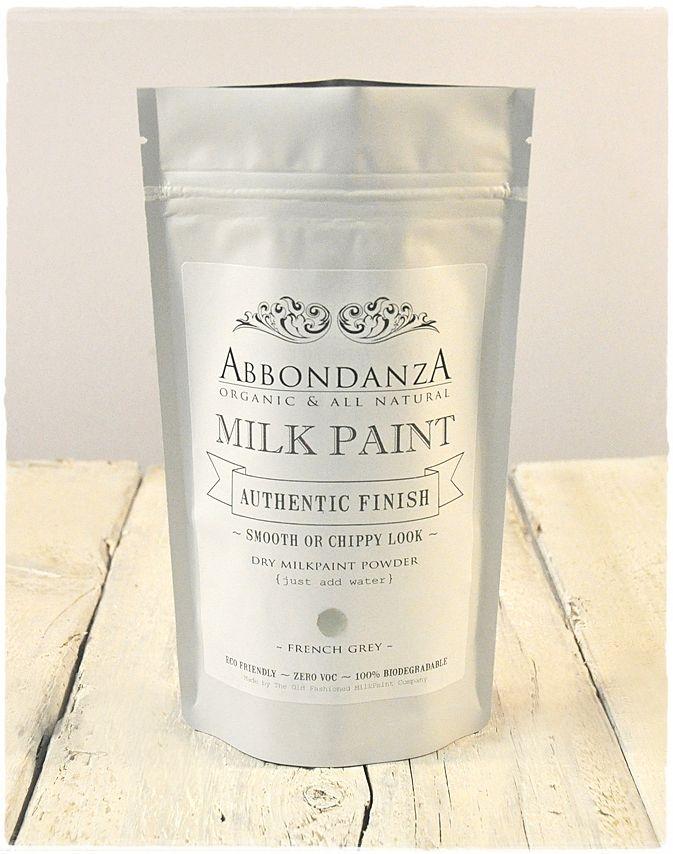 Abbondanza Milk Paint is een authentieke verf op basis van melkeiwit, kalk, klei en natuurlijke pigmenten.   Abbondanza Milk Paint is gebaseerd op oude melkverf recepten die eeuwenlang in gebruik waren. Abbondanza Milk Paint bevat dan ook uitsluitend natuurlijke ingrediënten en is 100% biologisch afbreekbaar, geurvrij en bevat geen oplosmiddelen, conserveermiddelen of andere hulpstoffen.