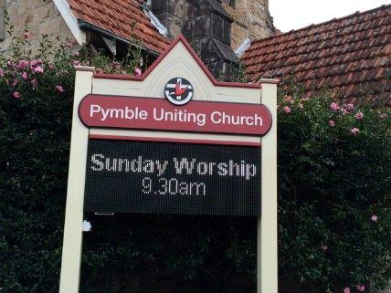 Pymble Uniting Church sign / Danthonia Designs