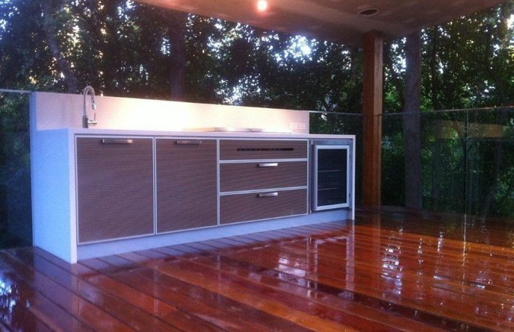 Alfresco kitchens use outdoor rated materials but are generally installed in under cover areas.